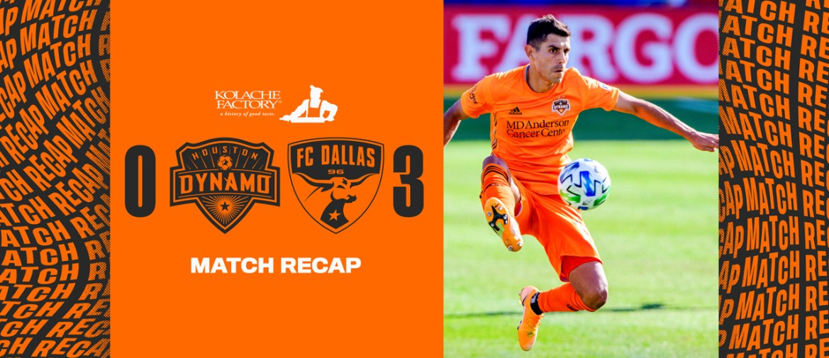 Houston Dynamo fall 3-0 at FC Dallas, Eliminated from Playoffs