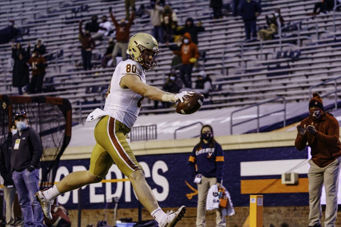 BC Drops ACC Finale at Virginia as Eagles fall to the Cavaliers, 43-25