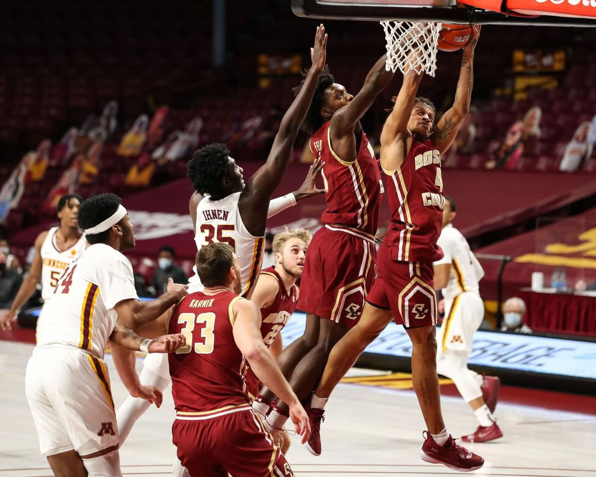 Eagles Fall 85-80 in Overtime at Minnesota. Tabbs had a game-high 24