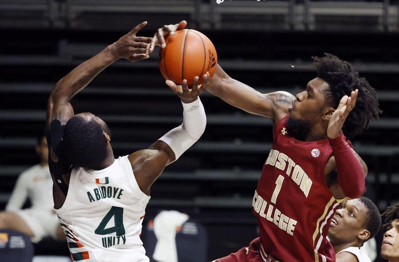 Boston College Eagles Battle But Fall, 80-76, at Miami