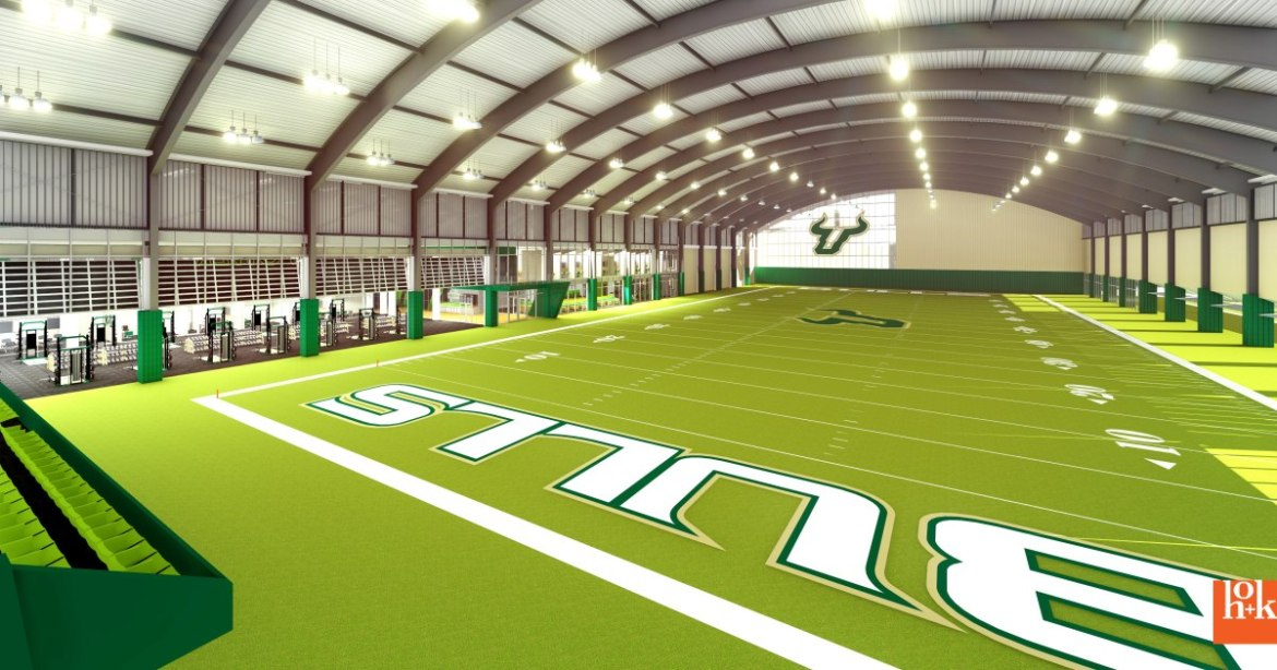 USF: They Finally Get A New Indoor Practice Facility