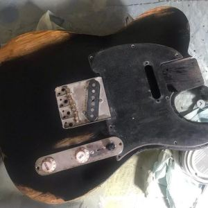 telecaster black relic finish fender NGS guitars