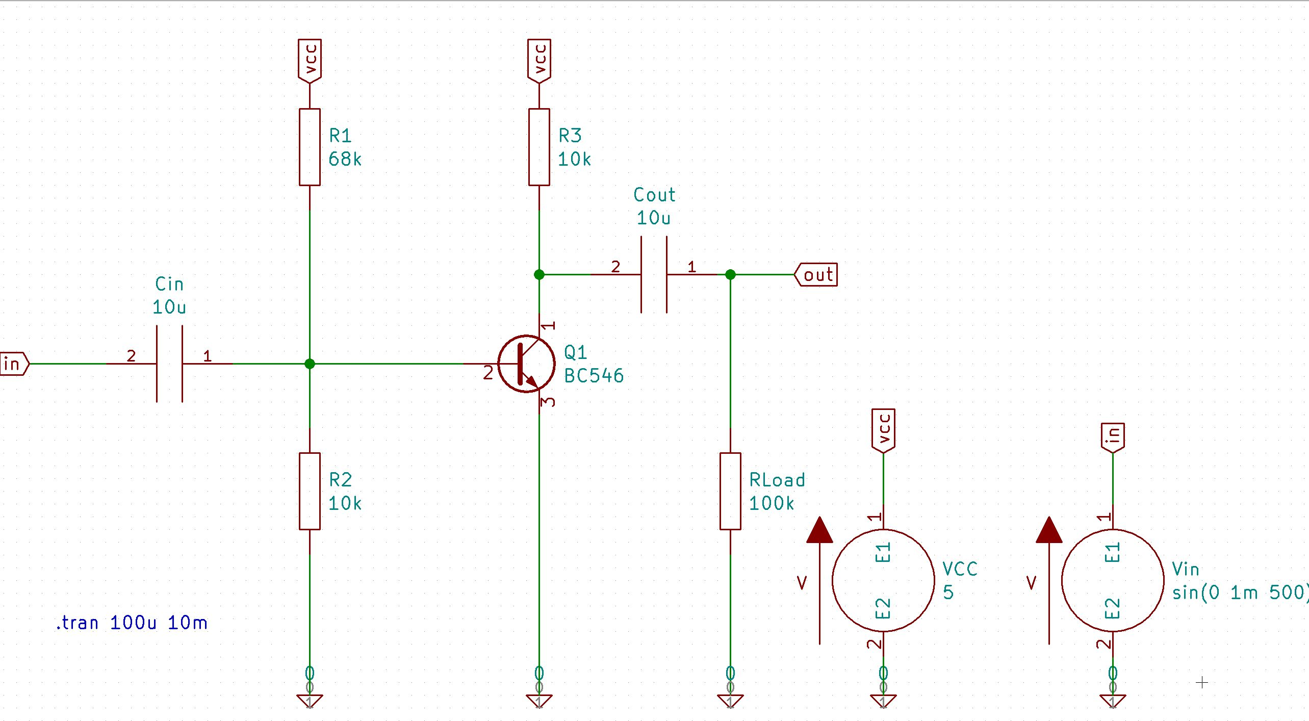 wiring diagram for amp and sub 99 f250 fuse box kicad eeschema as gui ngspice tutorial setting up the amplifier circuit