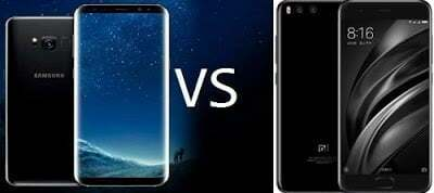 Samsung Galaxy S8 and Xiaomi Mi6