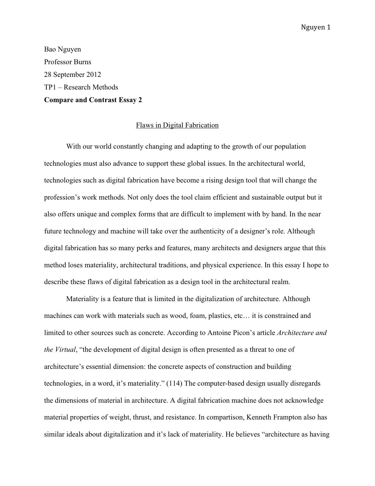 Sample Reflection Paper Format Thesis Example Essay Essay Thesis