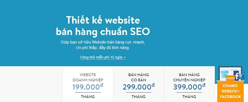 Bảng giá Haravan Website giá rẻ