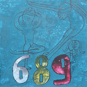 Dance 04, acrylic painting by Nguyen Thi Mai