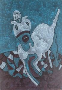 Foal 01, an acrylic painting by Nguyen Thi Mai