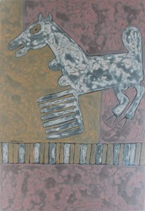 Hades Horse 02, an acrylic painting by Nguyen Thi Mai