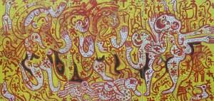 Happy Spirits 02, acrylic painting by Nguyen Thi Mai