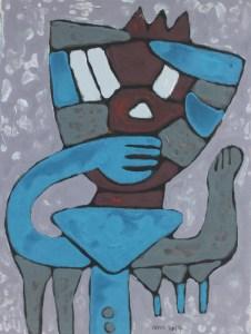 Three Wise Monkeys 20, an acrylic painting by Nguyen Thi Mai