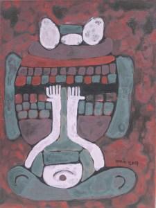 Three Wise Monkeys 30, an acrylic painting by Nguyen Thi Mai
