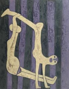 Yoga 02, acrylic painting by Nguyen Thi Mai