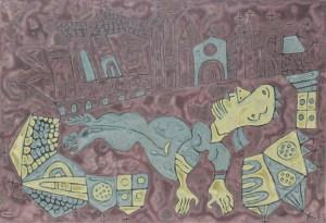 Zodiac Monkey, an acrylic on canvas painting by Nguyen Thi Mai