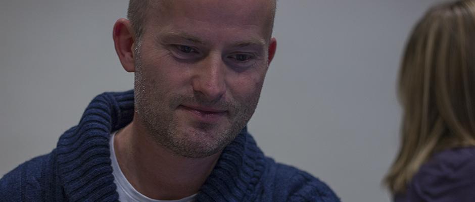 Lærer Ole Schjølberg var en av de som lærte seg å lage dataspill i dag.