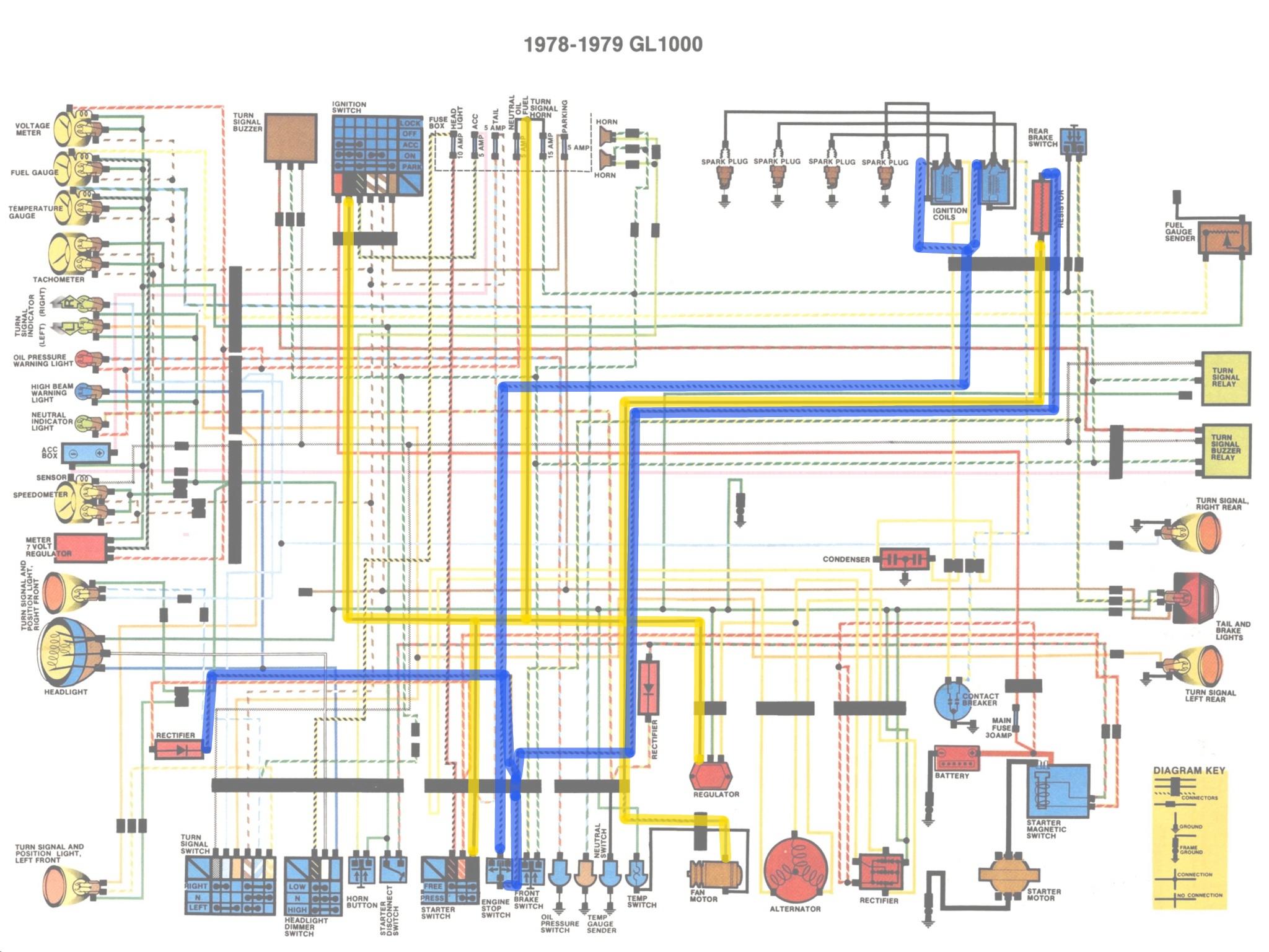 honda goldwing wiring diagram [ 2048 x 1536 Pixel ]