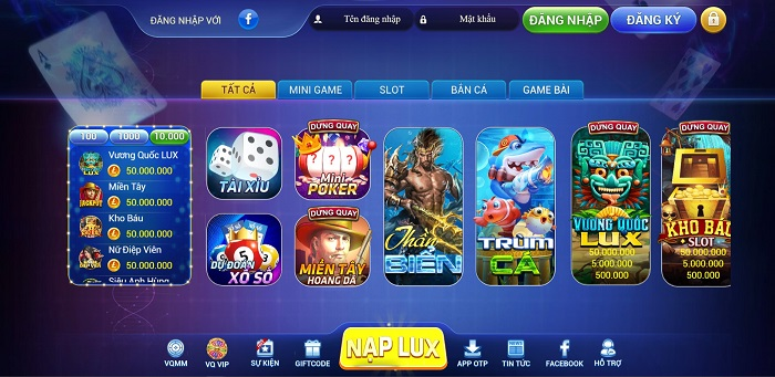 Cổng game lux club