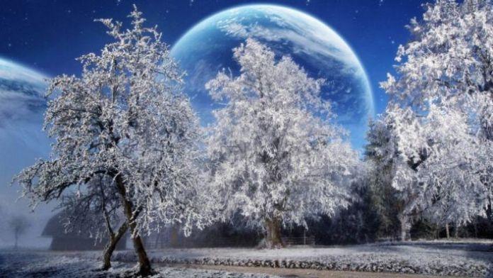 Hình ảnh mùa đông lạnh được lồng ghép