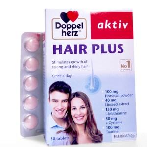 Hair Plus Doppelherz Aktiv giảm rụng tóc, kích thích mọc tóc, nuôi dưỡng tóc chắc khỏe, đẹp