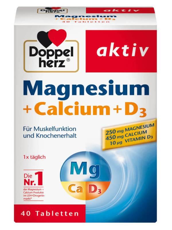 Magnesium Calcium D3Dopel Herz Aktiv - viên bổ sung canxi magie Đức giảm đau mỏi cơ xương, chuột rút