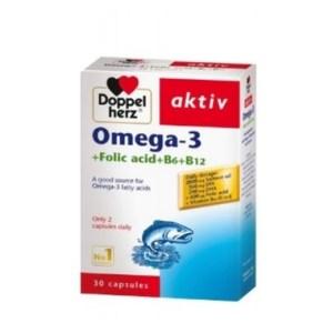 Omega 3 Folic Acid B1 B6 B12 Doppelherz aktiv
