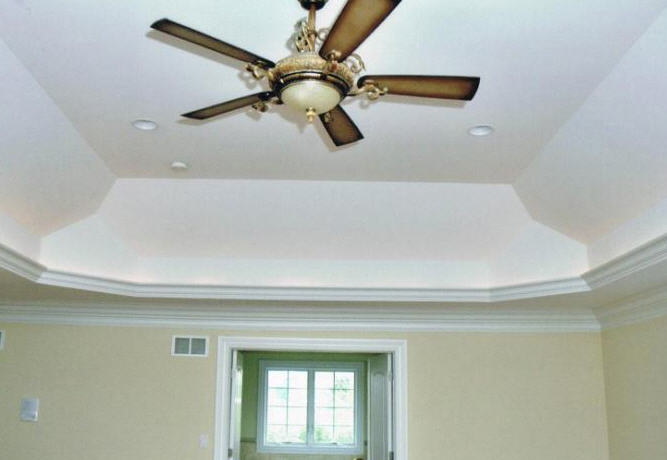 arched drywall ceiling