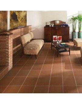 red clay 12x12 terracotta tile mediterranean look