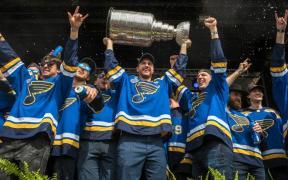 St. Louis Blues comemoram a vitória da Stanley Cup