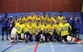 Time brasileiro de hockey inline no World Roller Games