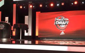 Palco vazio no evento do NHL Draft do centésimo aniversário da Liga