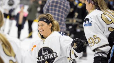 Allie Thunstrom durante o All-Star Weekend