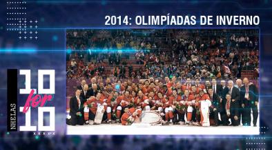 Seleção canadense com a medalha de ouro
