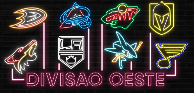 Equipes que compõem a Divisão Oeste da NHL em 2021