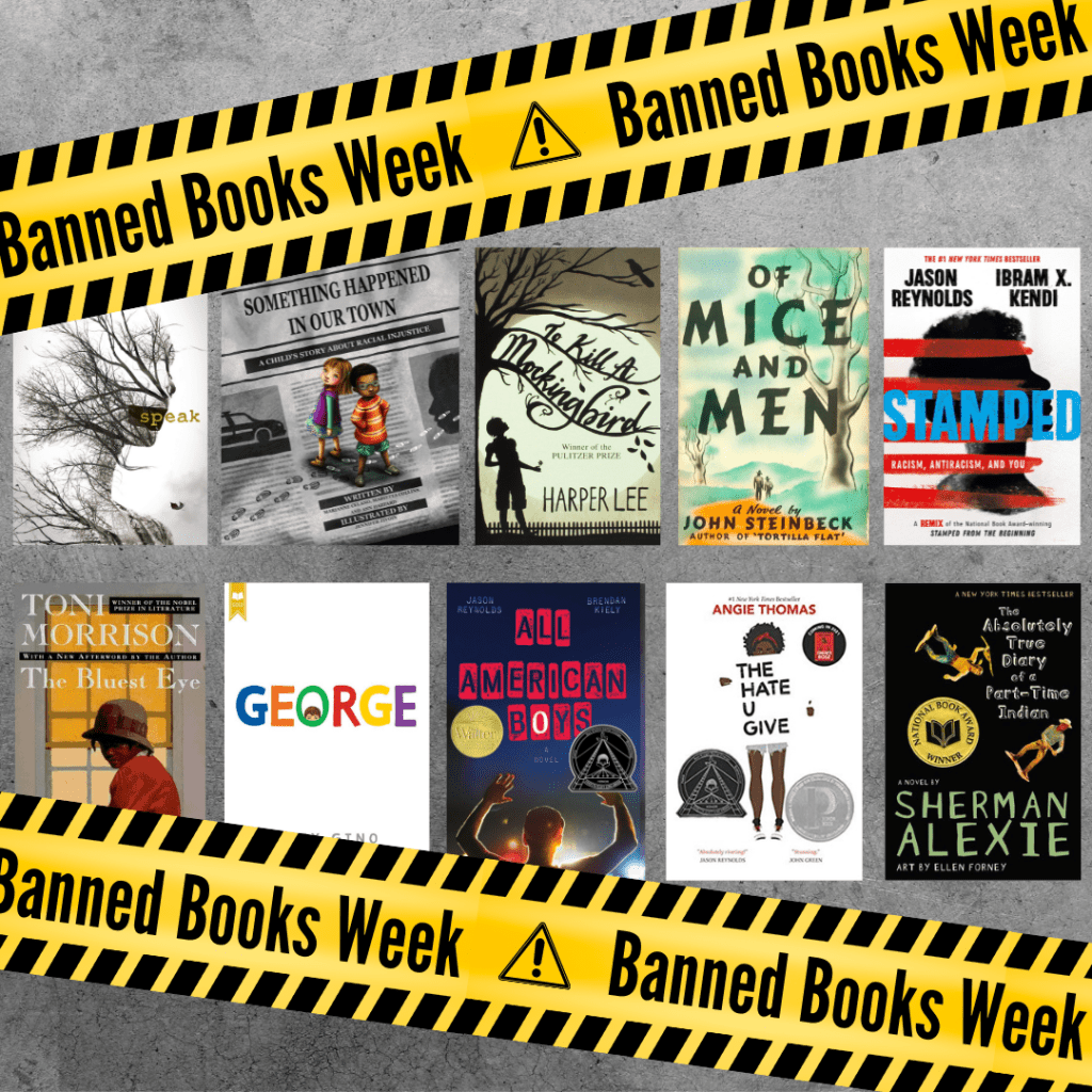 A selection of banned books