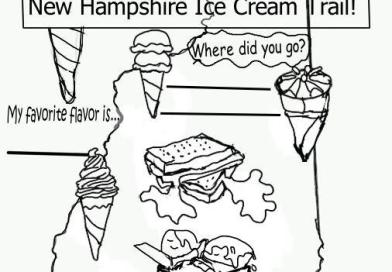 Ice Cream Trail Coloring Page