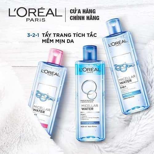 So sánh nước tẩy trang Bioderma và L'Oréal Paris Micellar Water 3-in-1