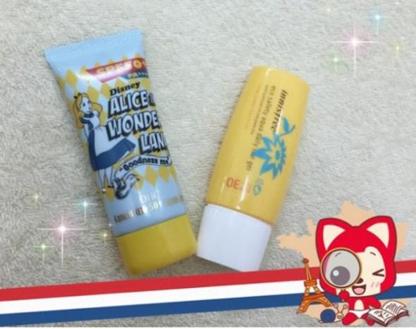 Kem chống nắng DHC SPF 50 PA++++ Aqua Gel và Innisfree Eco Safety Aqua Daily Sun Gel SPF 30 PA++