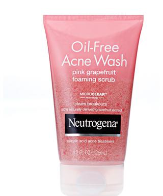 Sữa rửa mặt trị mụn Neutrogena Oil Free Acne Wash Pink Grapefruit foaming scrub