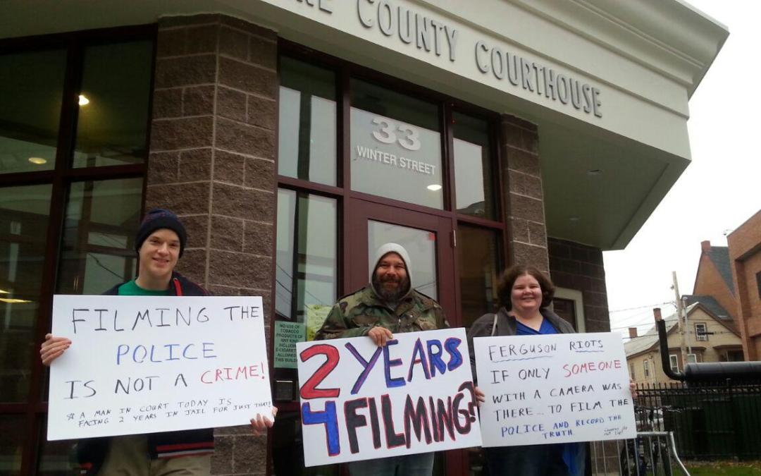 NH Jury Activists Bring Message to Potential Jurors for James Cleaveland's Recording Cops Trial