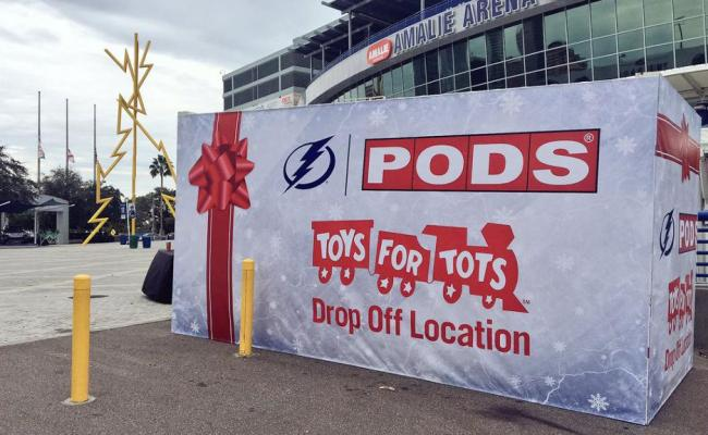 Lightning Marine Corps Partner With Pods For Holiday Toy