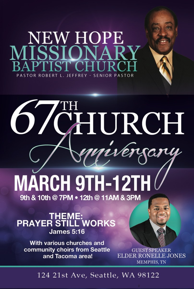 67th Church Anniversary – New Hope Missionary Baptist Church