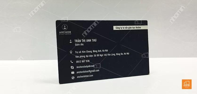 mẫu card visit công ty tư vấn giáo dục
