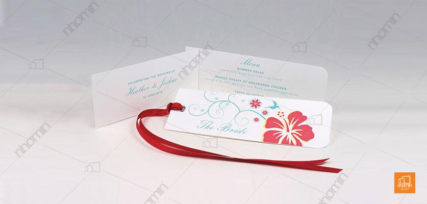 Làm tag giấy The Bride