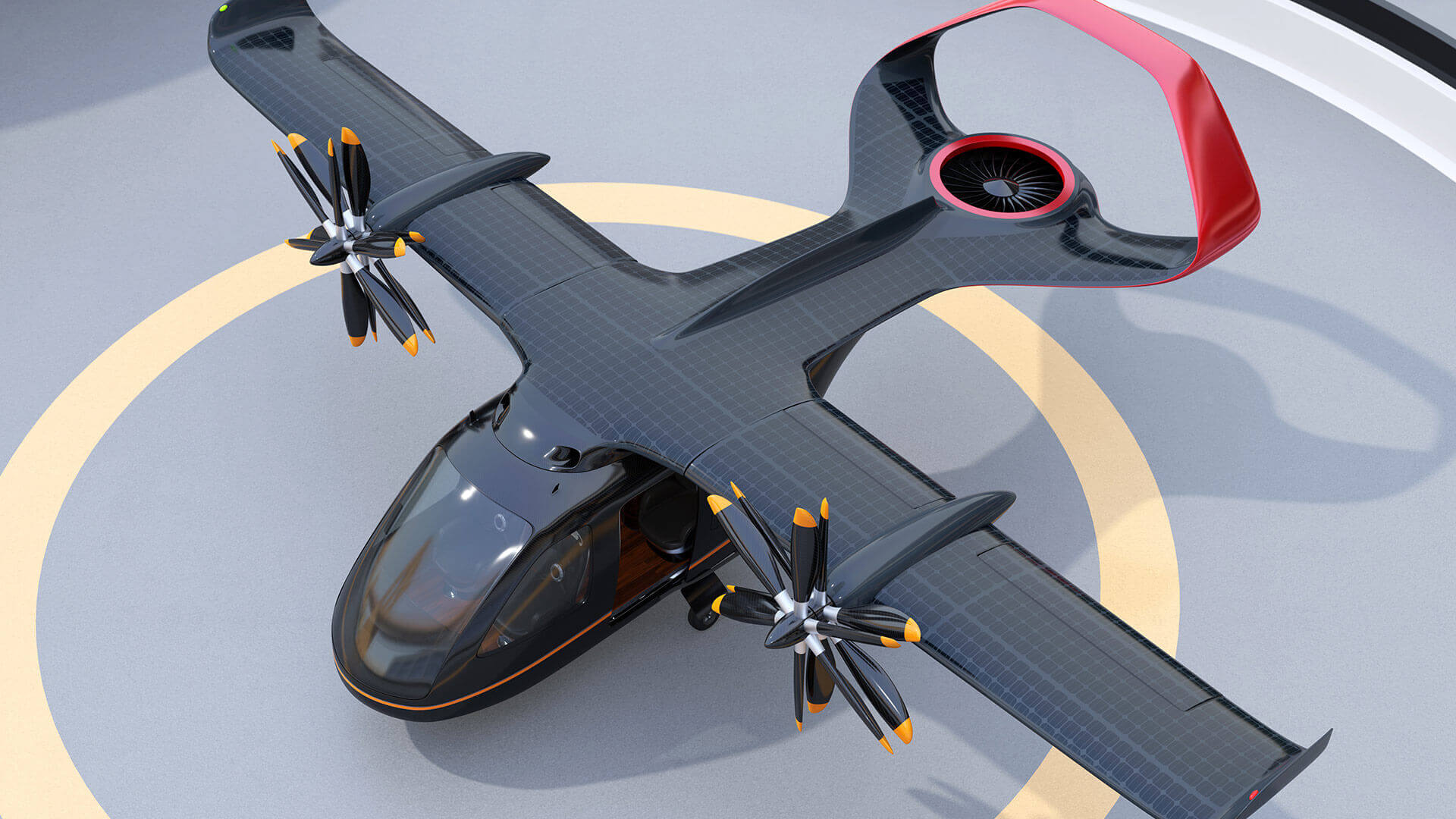 VTOL Electric Propulsion Black Top View - NH Research (NHR)