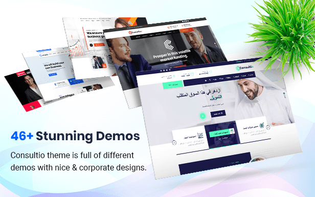 Consultio - Corporate Consulting WordPress theme demo