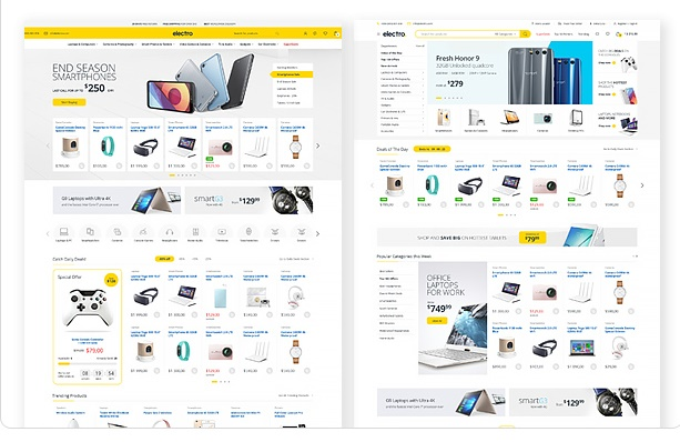 Electro Electronics Store WooCommerce Theme new home page demo