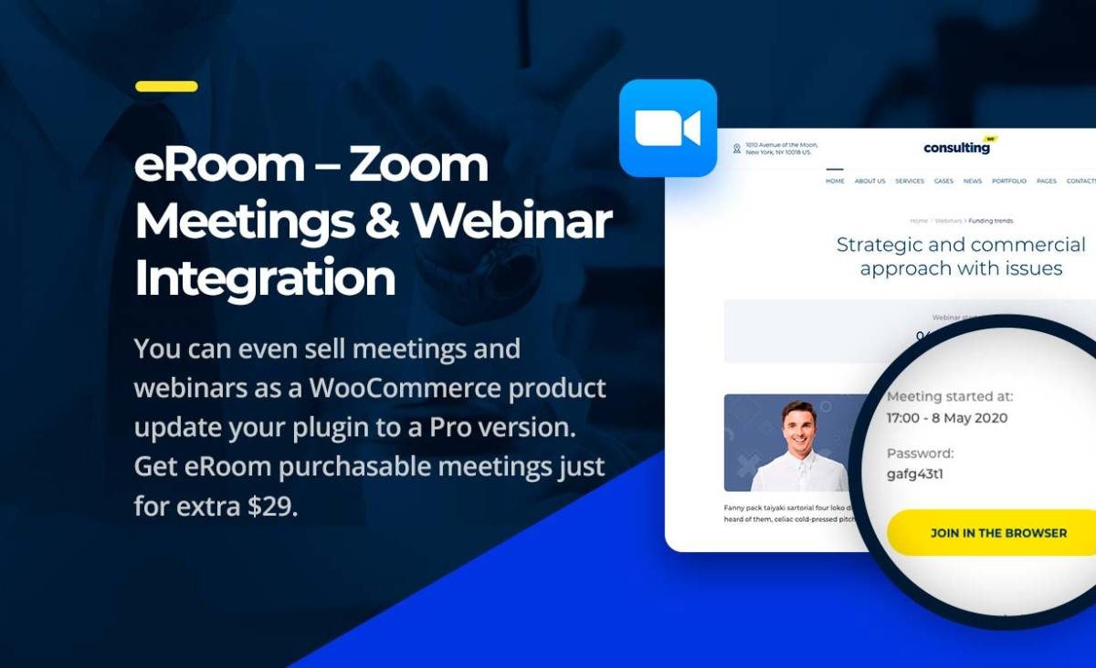 Consulting WordPress theme zoom integration