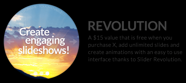 The X Theme for WordPress slider revolution