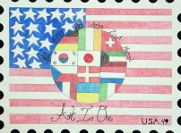 USPS Postage Stamp by Rachel