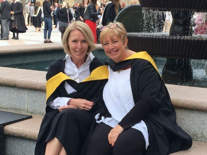 MAIN Two nurses graduate with Master of Science degrees